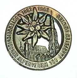 1862-1962 Ősterreichischer Alpenverein 100 Jahrfeier in Wien