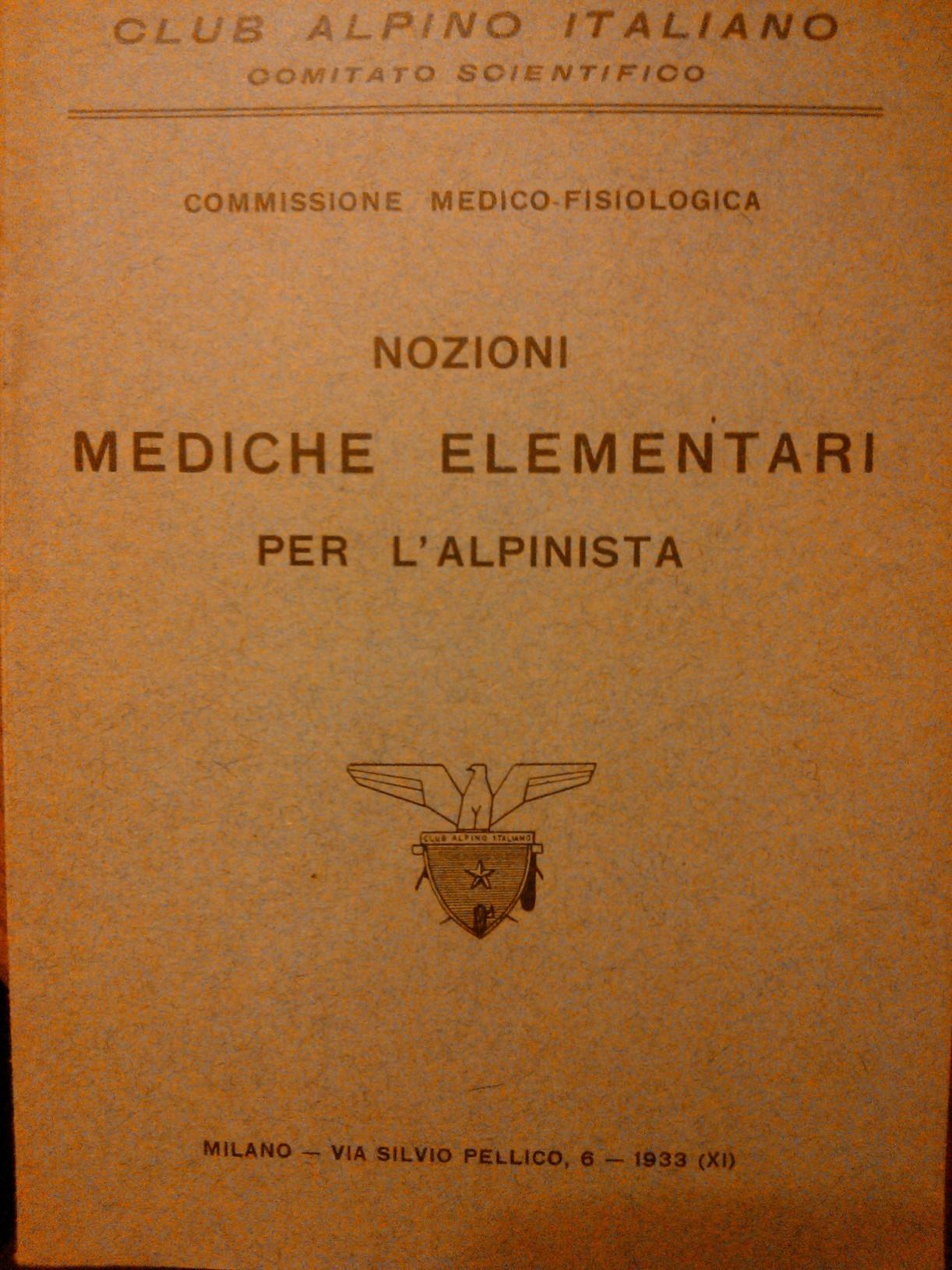 Nozioni mediche elementari per l'alpinista