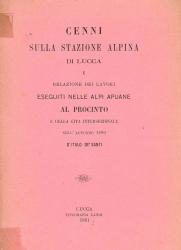 Cenni sulla stazione alpina di Lucca