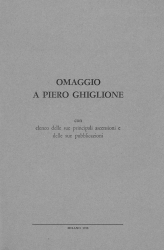 Omaggio a Piero Ghiglione