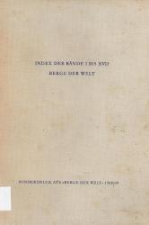 Index für die Bände I bis XVII Berge der Welt