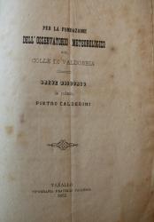 Per la fondazione dell'osservatorio meteorologico sul colle di Valdobbia