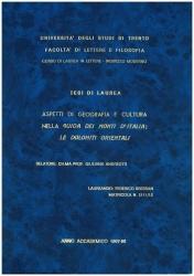 Aspetti di geografia e cultura nella Guida dei monti d'Italia