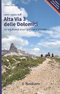 Carte e guida dell'Alta Via 3 delle Dolomiti