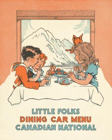 Little folks dining car menu