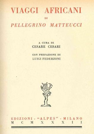 Viaggi africani di Pellegrino Matteucci