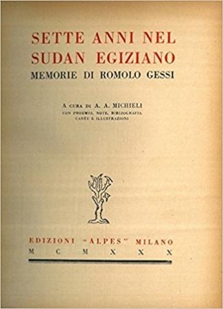 Sette anni nel Sudan egiziano