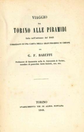 Viaggio da Torino alle Piramidi