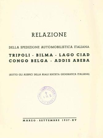 Relazione della spedizione automobilistica italiana