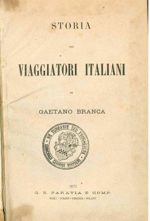 Storia dei viaggiatori italiani