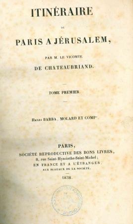 [Itinéraire de Paris a Jérusalem] 1