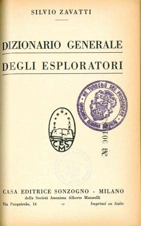 Dizionario generale degli esploratori