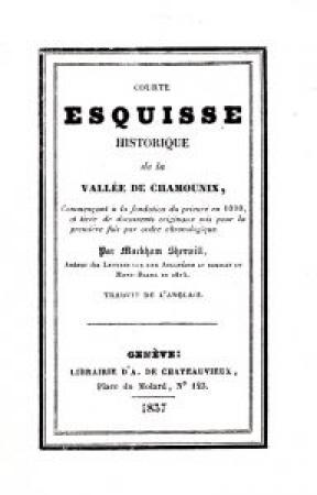 Courte esquisse historique de la vallée de Chamounix