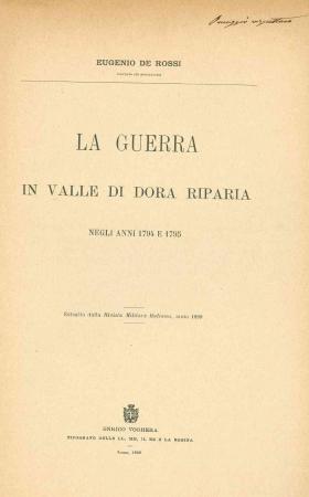 La guerra in valle di Dora Riparia