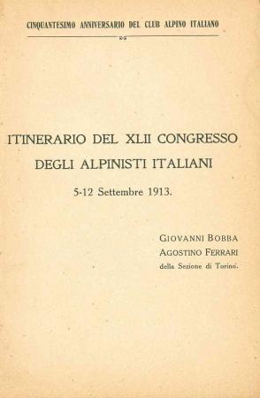 Itinerario del 42. Congresso degli alpinisti italiani