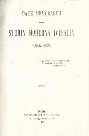 Date memorabili della storia moderna d'Italia