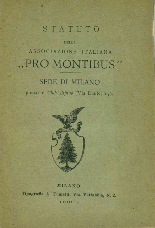 Statuto della Associazione italiana Pro Montibus