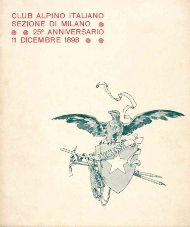 Club alpino italiano Sezione di Milano 25. anniversario, 11 dicembre 1898