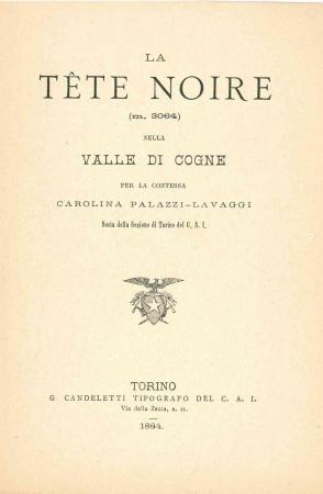 La Tete Noire (m. 3064) nella valle di Cogne