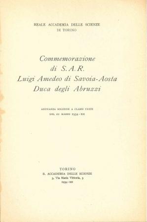 Commemorazione di S.A.R. Luigi Amedeo di Savoia-Aosta Duca degli Abruzzi