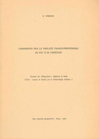 Confronto fra le parlate franco-provenzali di Viù e di Usseglio