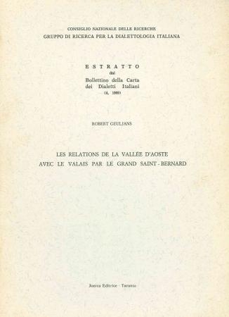 Les relations de la Vallée d'Aoste avec le Valais par le Gran Saint-Bernard