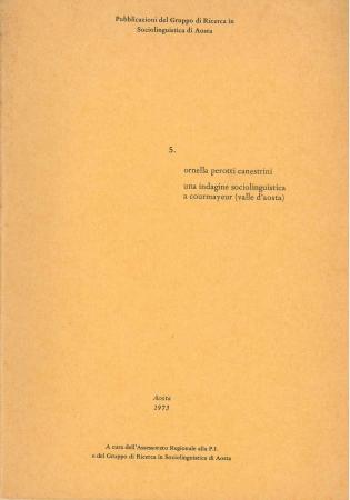 Una indagine sociolinguistica a Courmayeur (Valle d'Aosta)