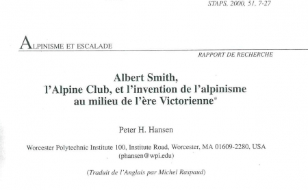 Albert Smith, l'Alpine Club et l'invention de l'alpinisme au milieu de l'ère Victorienne
