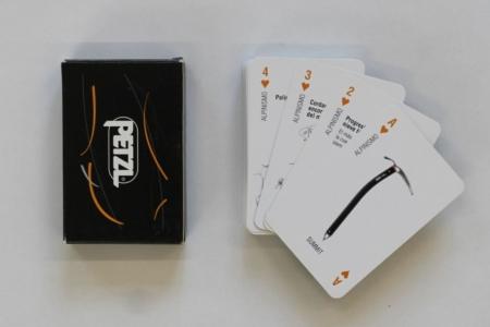 Petzl [Carte da gioco sull'arrampicata su ghiaccio, attrezzatura e materiali]