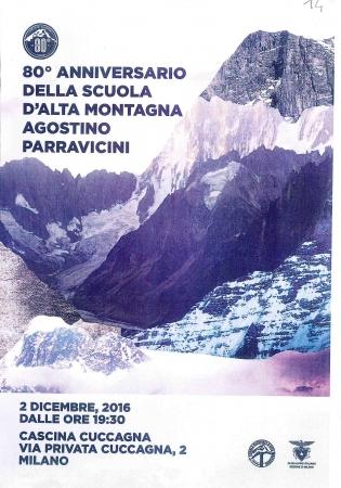 80. anniversario della Scuola d'Alta montagna Agostino Parravicini
