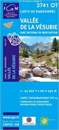 TOP 25 3741 OT, Vallée de La Vésubie, Parc national du Mercantour