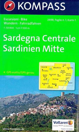 Sardegna Centrale : escursioni, bike : set di 4 carte. Foglio n. 1
