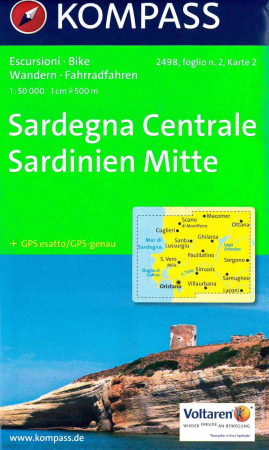 Sardegna Centrale : escursioni, bike : set di 4 carte. Foglio n. 2