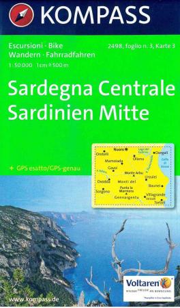 Sardegna Centrale : escursioni, bike : set di 4 carte. Foglio n. 3