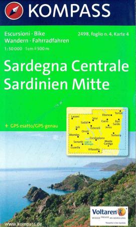 Sardegna Centrale : escursioni, bike : set di 4 carte. Foglio n. 4