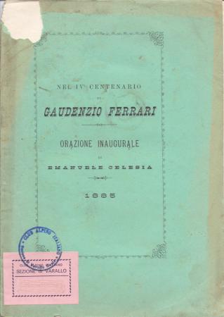 Nel 4. centenario di Gaudenzio Ferrari