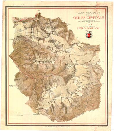 Carta topografica del gruppo Ortler-Cevedale
