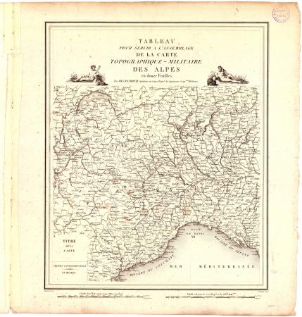 Tableau pour servir à l'assemblage de la carte topographique-militaire des Alpes en douze feuilles : *[Feuille 0]