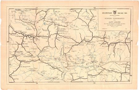 Schizzo topografico delle Alpi liguri
