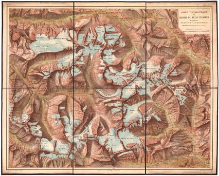Carte topographique du massif du Mont Pelvoux