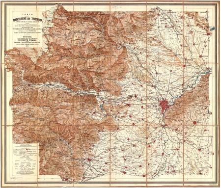 Carta dei dintorni di Torino