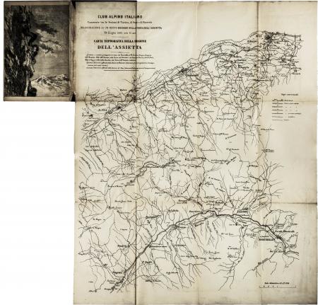 Carta topografica della regione dell'Assietta