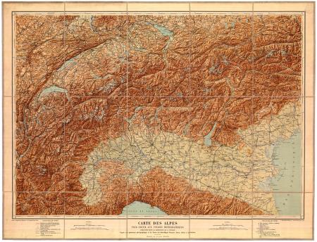 Carte des Alpes pour servir aux voyages photographiques