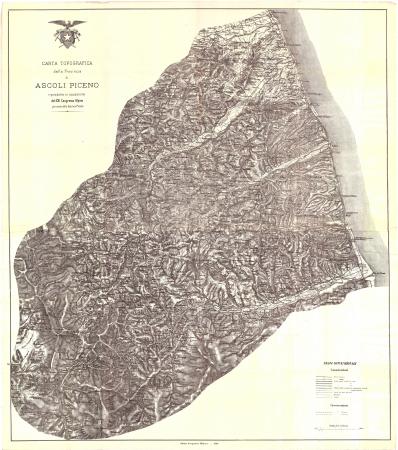 Carta topografica della provincia di Ascoli Piceno