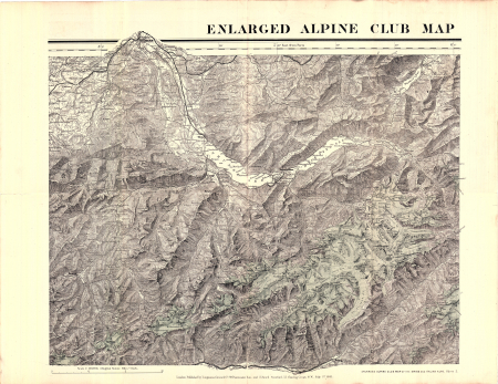 The enlarged Alpine club map of the Swiss & Italian Alps - [Foglio] 2
