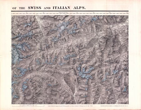 The enlarged Alpine club map of the Swiss & Italian Alps - [Foglio] 3