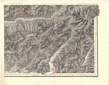 The enlarged Alpine club map of the Swiss & Italian Alps - Sheet 8