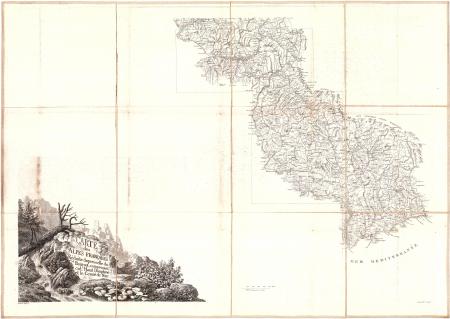 Carte des Alpes françaises réduite d'après celle du général Bourcet. [1]