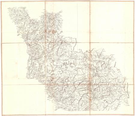 Carte des Alpes françaises réduite d'après celle du général Bourcet. [2]