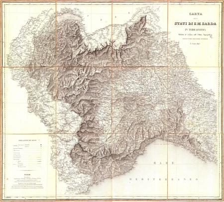 Carta degli stati di S.M. sarda in terraferma